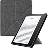 "Fintie Origami Case for Kindle Oasis (9th Gen, 2017 Release ONLY) - Slim Fit Stand Protective Cover Support [Hands Free] Reading with Auto Wake / Sleep for Amazon All-New 7"" Kindle Oasis, Denim Charcoal"