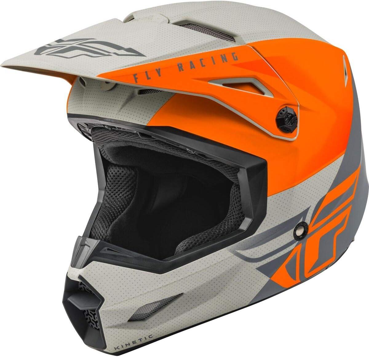 Fly Racing 2021 Kinetic Helmet Blue//Grey//Black Straight Edge Large