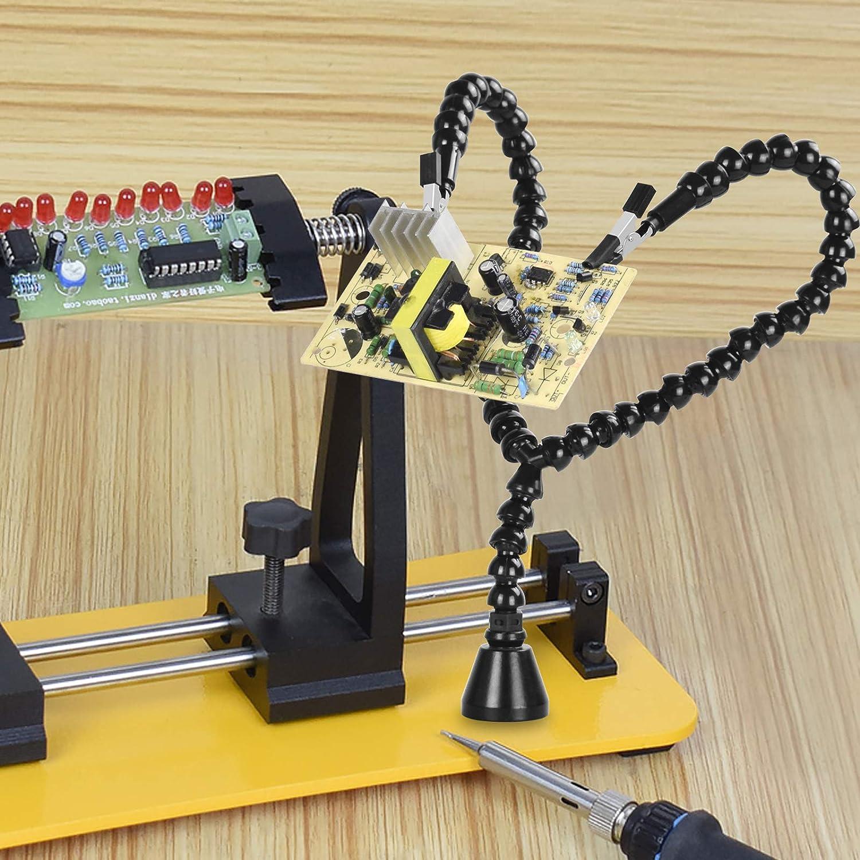 Forma di saldatura a mano con forte base magnetica e 6 morsetti a coccodrillo per il supporto per la saldatura e la riparazione di saldatura NewacaloxY