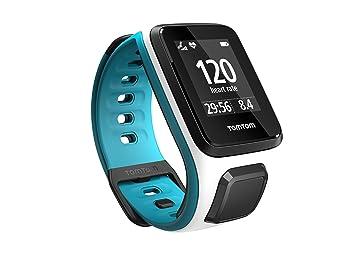 TomTom Runner 2 Cardio - Montre GPS - Bracelet Blanc / Turquoise Fin (ref 1RF0