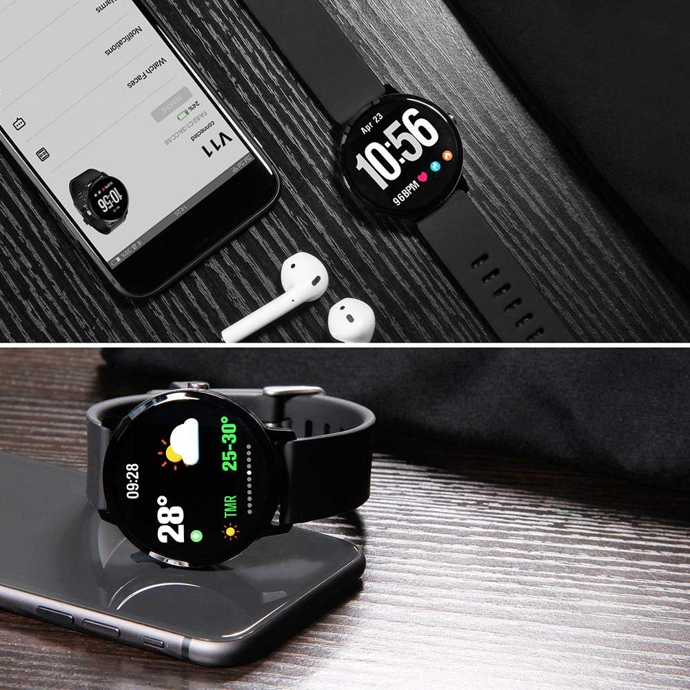 iBaste V11 Smartwatch con Luz de Respiración, Deportes ...