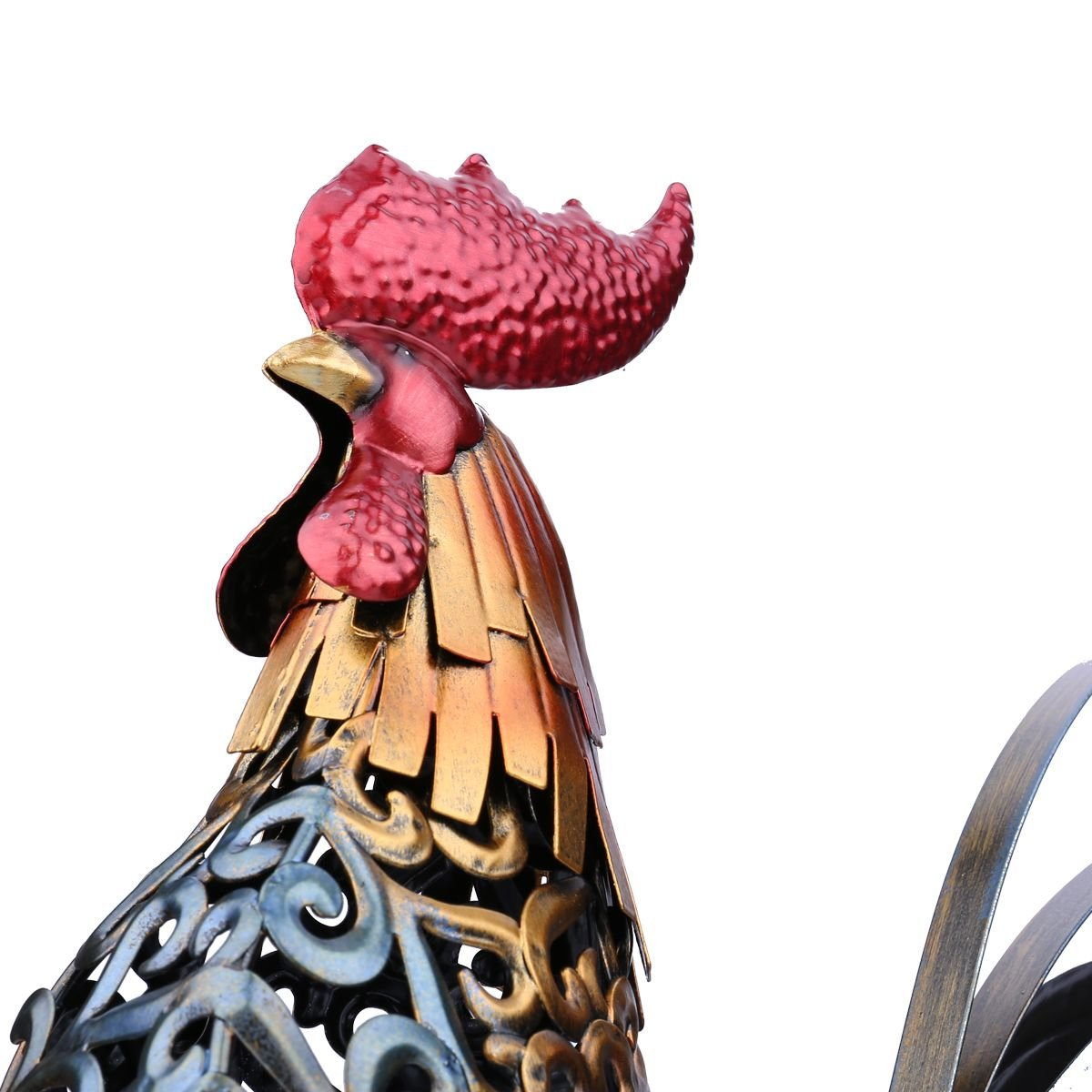 Nisson Home Kitchen - Metal Figurine Home Decor Vivid Colorful Craft Gift for Decoration Accessories