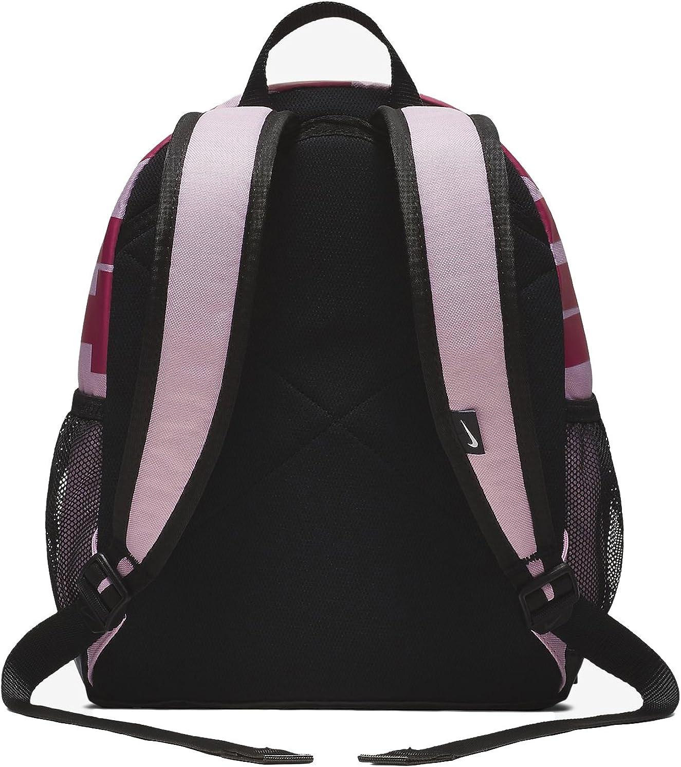 Nike Y Nk Brsla Jdi Mini Bkpk, Sac à dos Mixte enfant, 15x24x45 centimeters (W x H x L) Multicolore (Pink/Black/Rush Pink)
