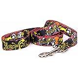 "Yellow Dog Design Graffiti Dog Leash 3/4"" Wide and 5' (60"") Long, Small/Medium"