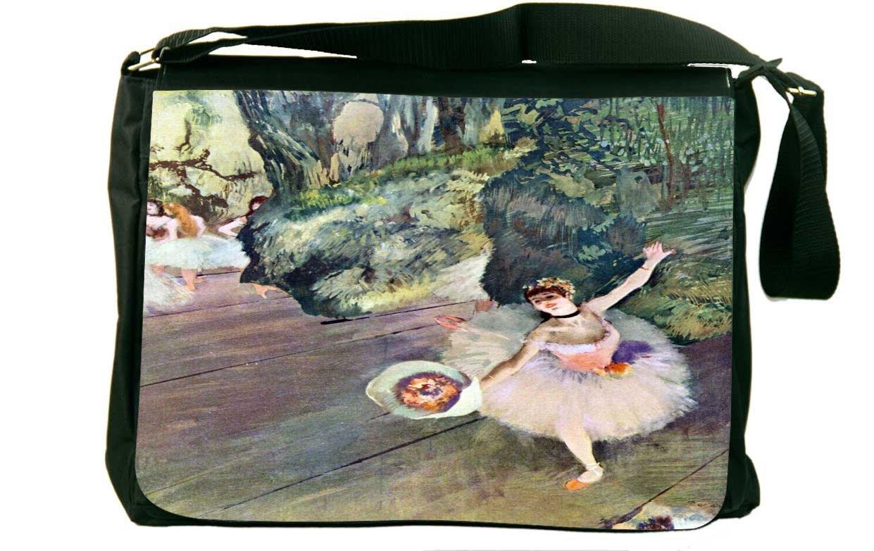 Rikki Knight Edgar Degas Art Dancer with a Bouquet of Flowers Messenger Bag School Bag
