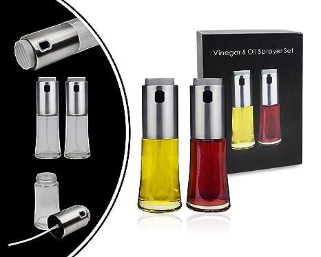 Leogreen - Dispensador de Aceite y Vinagre, Rociador de Cocina para Vinagre y Aceite,