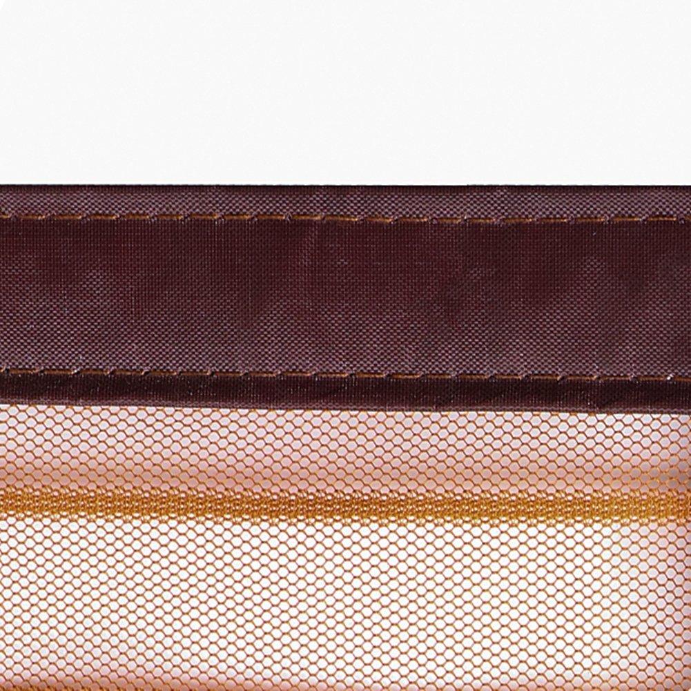 28x79inch YUNJIE Magnet fliegengitter t/ür,Magnetisch Starker klettverschluss Robust und langlebig Leise Bessere dichtigkeit Schlie/ßen sie automatisch Polyesterfaser Franz/ösisch t/ür Terrassent/ür Balkont/ür-brown 70x200cm