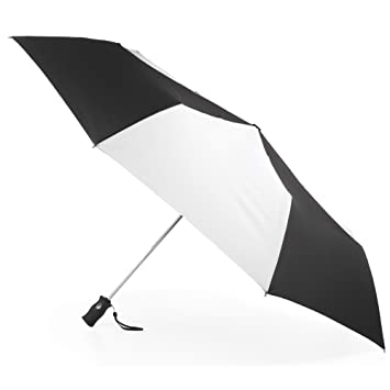 53d762d2c602 Totesport Golf Sized Automatic Compact Umbrella, Black/White, One Size