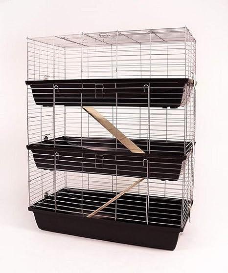 Jaula para conejo jaula para cobaya de 3 pisos jaula de 1 m ...