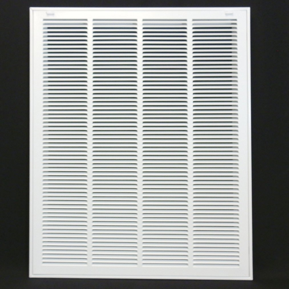 24'' X 30 Steel Return Air Filter Grille for 1'' Filter - Removable Face/Door - HVAC DUCT COVER - Flat Stamped Face - White [Outer Dimensions: 26.5''w X 32.5''h] by HVAC Premium (Image #1)