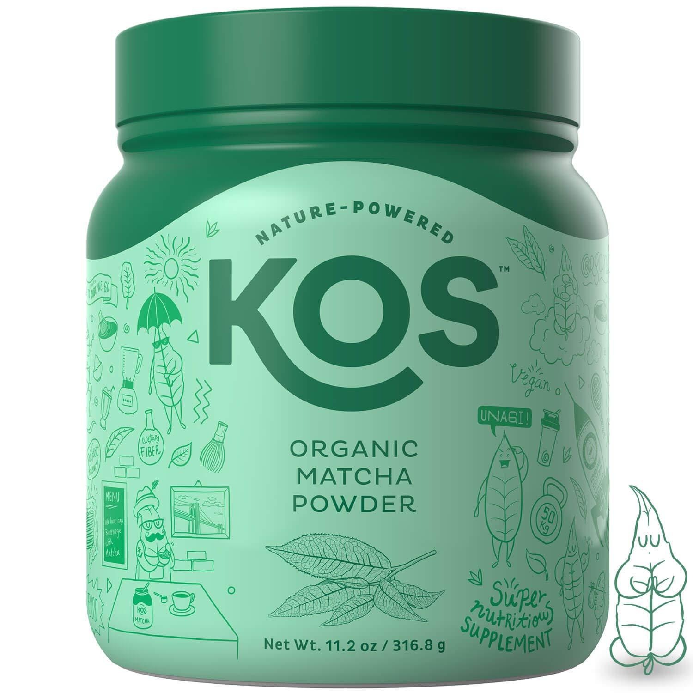 KOS Organic Matcha Powder - No Additives, 100% Pure Matcha Green Tea Powder - USDA Organic, High In Antioxidants, Clean Energy Promoting Plant Based Ingredient, 316.8g, 120 Servings by KOS