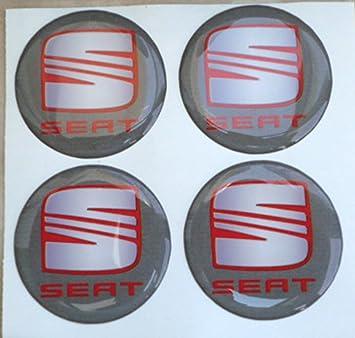 Adhesivos de resina tapacubos para Seat, color gris, de 60 mm. Calidad 3M. Pegatinas para tuning en 3D (4 unidades).: Amazon.es: Coche y moto