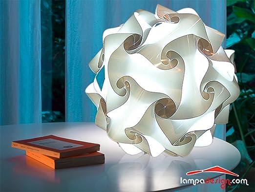 Lampa Diseño: – Lámpara de pie para salón lámpara de mesa modelo Fiocco 35 cm Bombilla blanca o colores bola diseño minimalista – de 3 a 5 capas de materiales de calidad –
