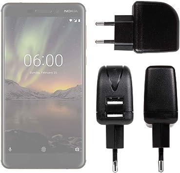 DURAGADGET Cargador con Enchufe Europeo para Smartphone Nokia 6.1 ...