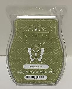 Scentsy Amazon Rain Bar Wickless Candle Tart Wax 3.2 Fl Oz, 8 Squares