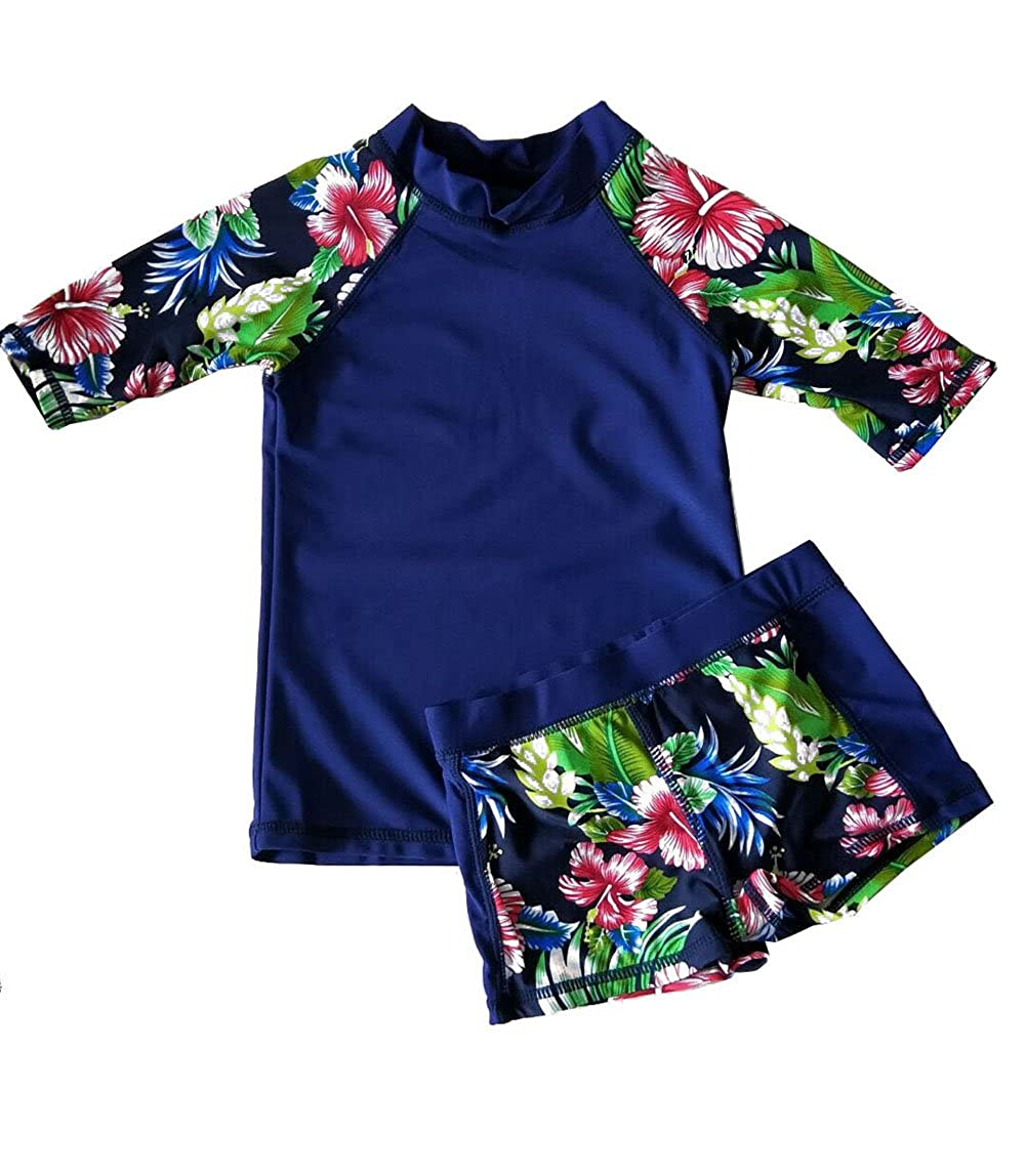 Baby Toddler Boy Girl Two Piece Swimsuit Set Kid Swimwear Bathing Suit UPF 50+