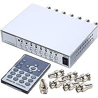 8 Kanal 8CH Quad Multiplexer Splitter Verteiler f/ür /Überwachungskamera 8Fach Split Bild YMPA UET-8KM