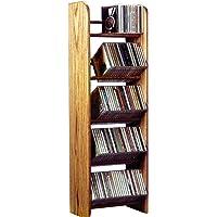 The Wood Shed Solid Oak CD Rack, Unfinished
