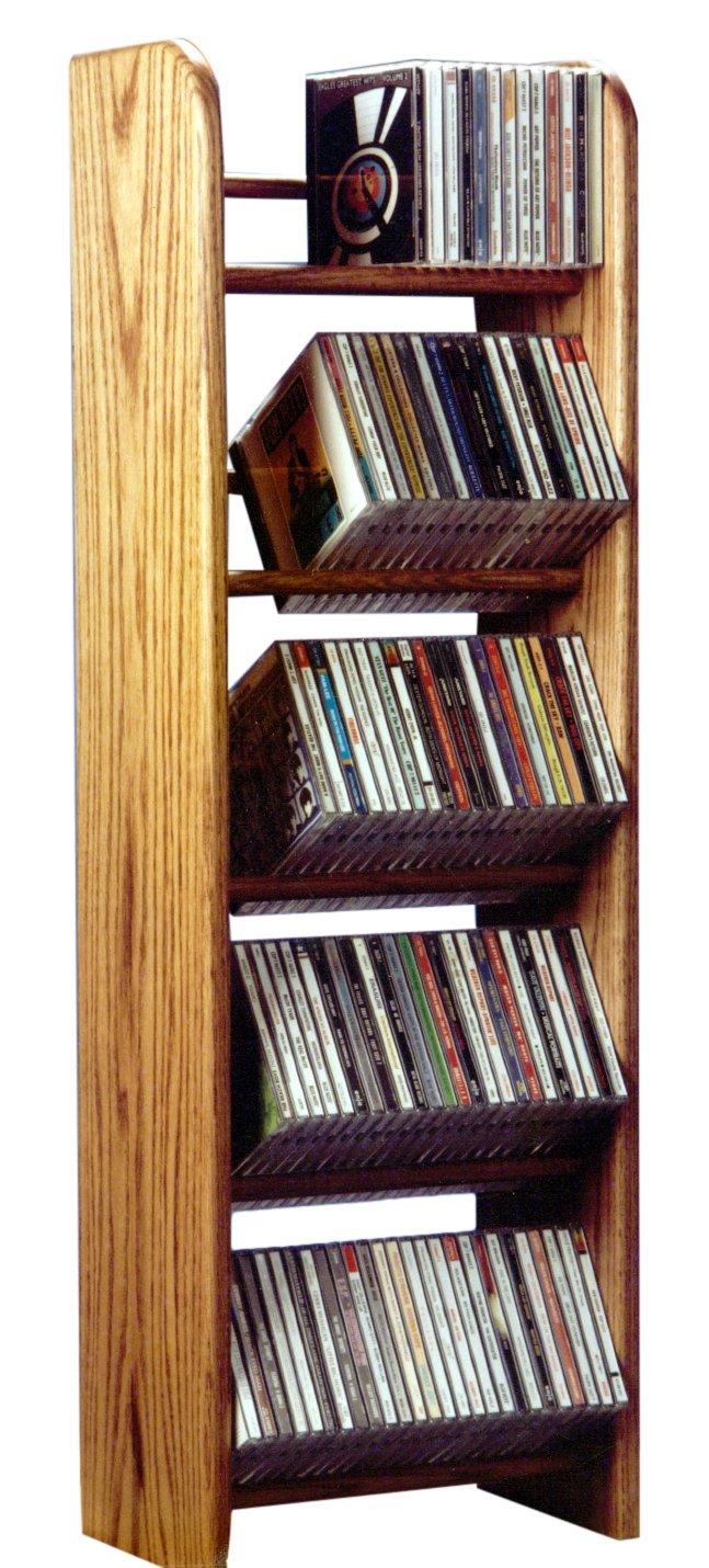 Wood Shed The 504 D Solid Oak CD Rack, Dark