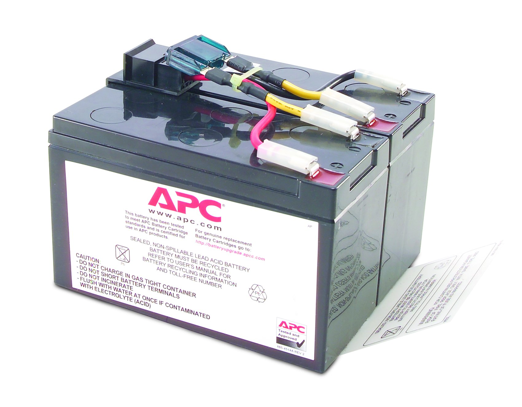 APC UPS Replacement Battery Cartridge for APC UPS Models SMT750, SUA750 and select others (RBC48) by APC