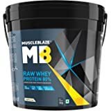 MuscleBlaze Raw Whey Protein - 8.8 lb/4 kg, 131 Servings (Unflavoured)