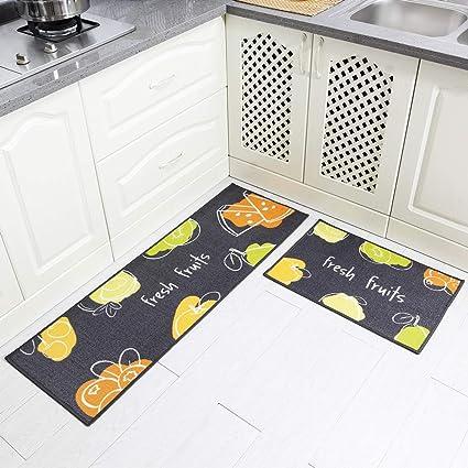 Carvapet 2 Pezzi Tappeti Cucina Antiscivolo Tappeti per ...