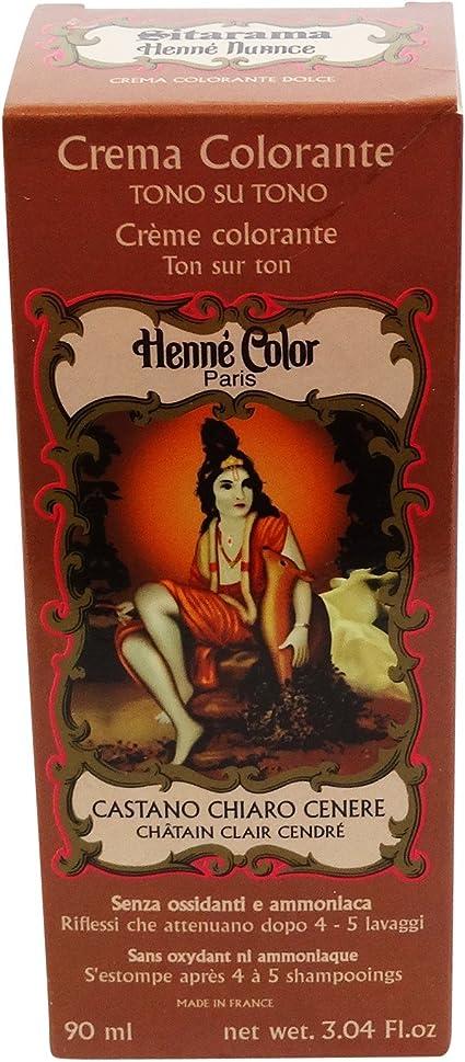 SITARAMA Tinte Vegetal Crema con Henna - Castaño Avellana - Sin peróxido ni amoniaco - Sin colorantes sintéticos - Vegan