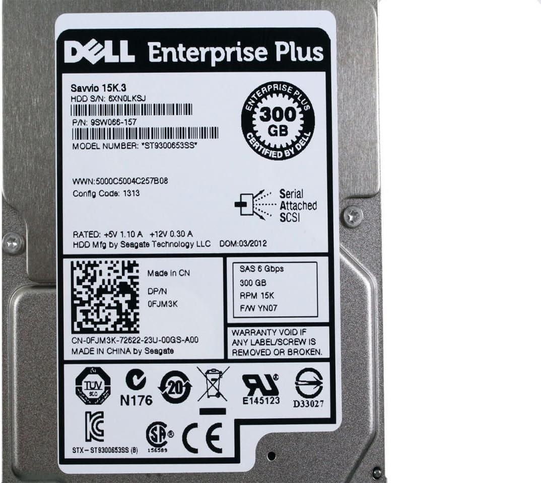 "OEM Genuine Dell Seagate Savvio 300GB Inernal Hard Disk ST9300653SS 2.5"" FJM3K"