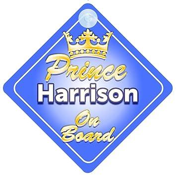 Crown Prince Harrison a bordo personalizada bebé niño Coche Señal