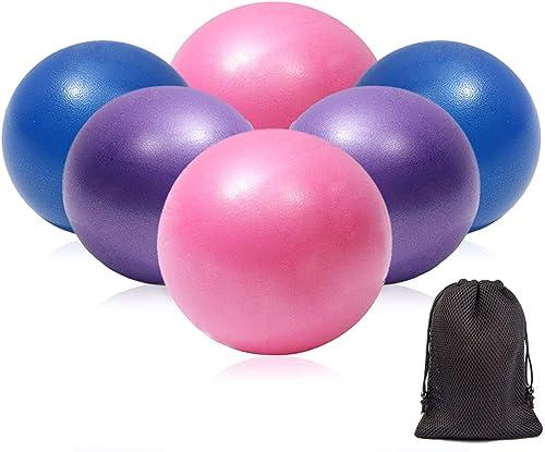XIECCX Mini Yoga Balls 9 Exercise Ball Pilates Ball Therapy Ball Balance Ball Bender Ball Barre Equipment 6 PCS