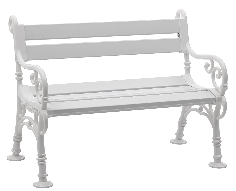 Sitzbank / Gartenbank 2er Design: Linderhof, Länge 115cm, Weiß  (hochwertiger Kunststoff, Parkbank Made In Germany): Amazon.de: Baumarkt