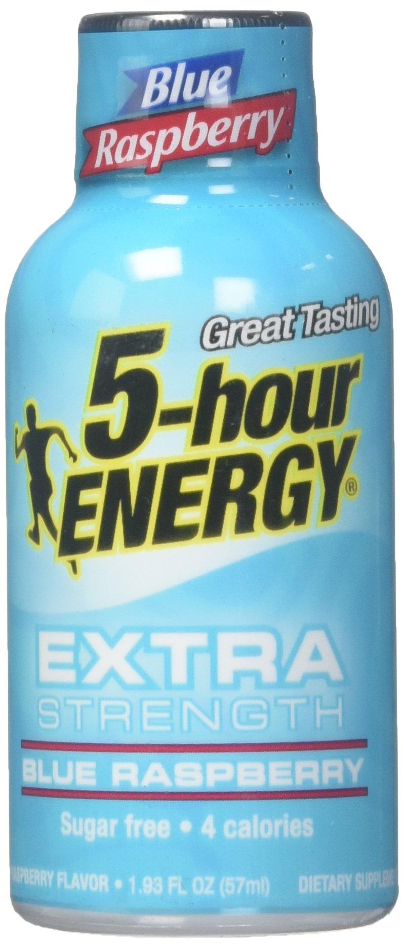 5 Hour Energy Extra Strength Blue Raspberry - Pack of 6