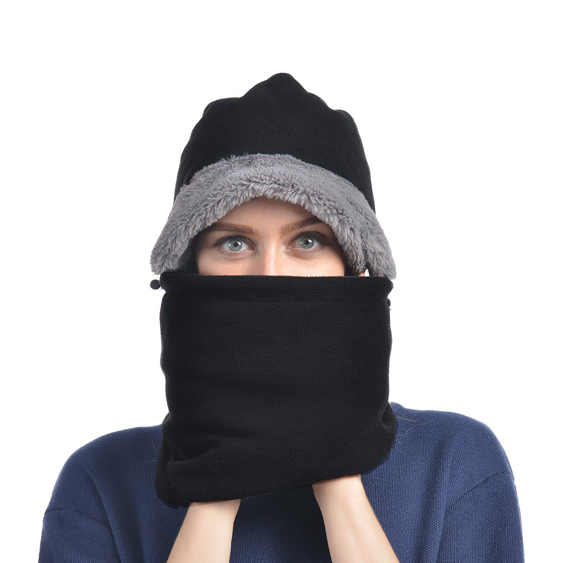 8c8b8ad9a07 UShake Balaclava Fleece Hood for Men or Women