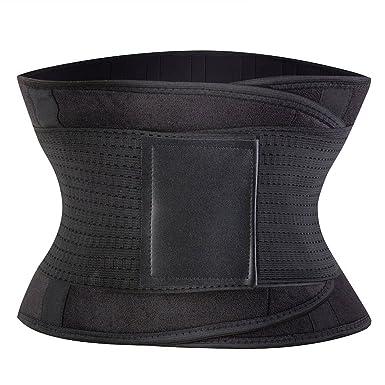 67e6b4096fc KSKshape Waist Trainer Belt for Weight Loss Breathable Workout Sport Body  Shaper Belt Tummy Control Shapewear  Amazon.co.uk  Clothing