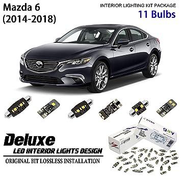 11 Bulbs Deluxe LED Interior Light Kit Xenon White Lamps For 2014-2018 Mazda 6
