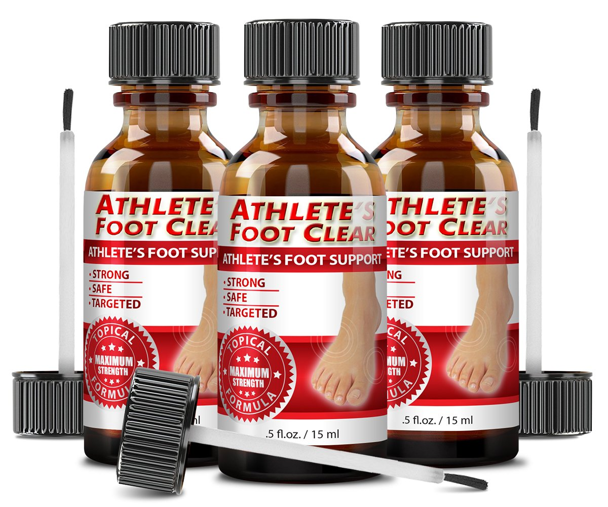 Athlete's Foot Clear - The Best Choice for Athlete's Foot Relief - 3 Bottles