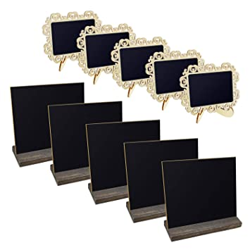 Amazon.com: Meetory 10 Sets Chalkboards with Wooden Stand-5 ...