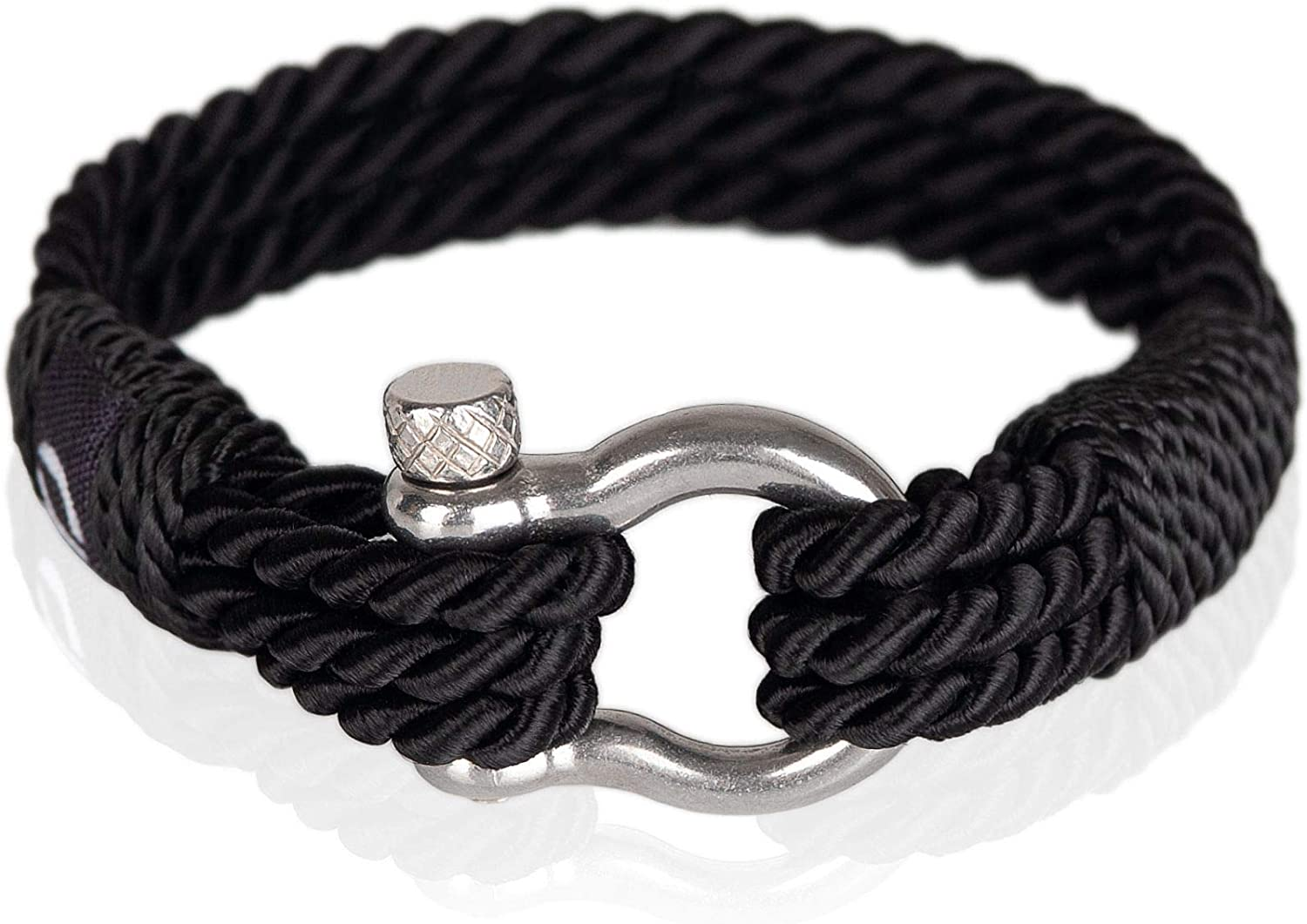 Mover Bracelets | Durable Twisted Rope Mens Bracelet with Shackle | Elegant Re-Made Nautical Style | 5 Rope Colors, 2 Shackle Colors