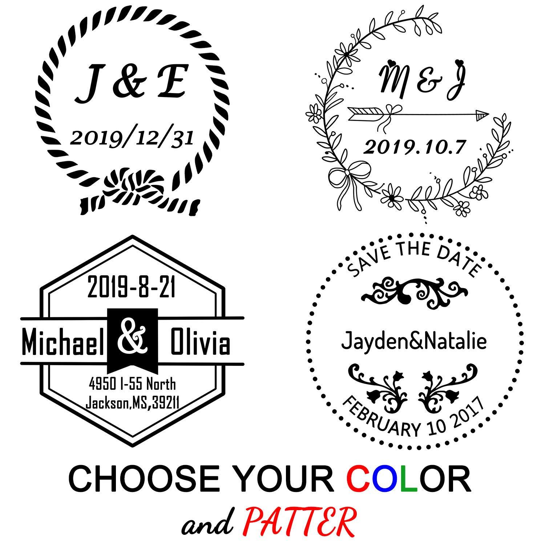 Amazon Com Custom Stamp Wedding Personalized Stamps Self Inking 1 5