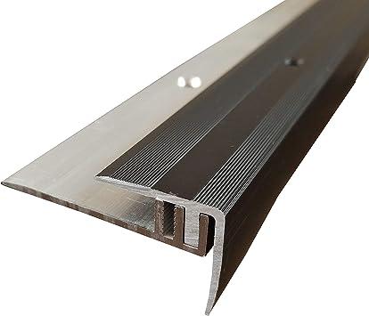 ALU eloxiert ufitec/® Profi Smart Profilsystem f/ür Vinylb/öden H/öhenausgleichsprofil - L/änge: 100 cm, Gold geeignet f/ür Belagsh/öhen von 5-9 mm Gold -