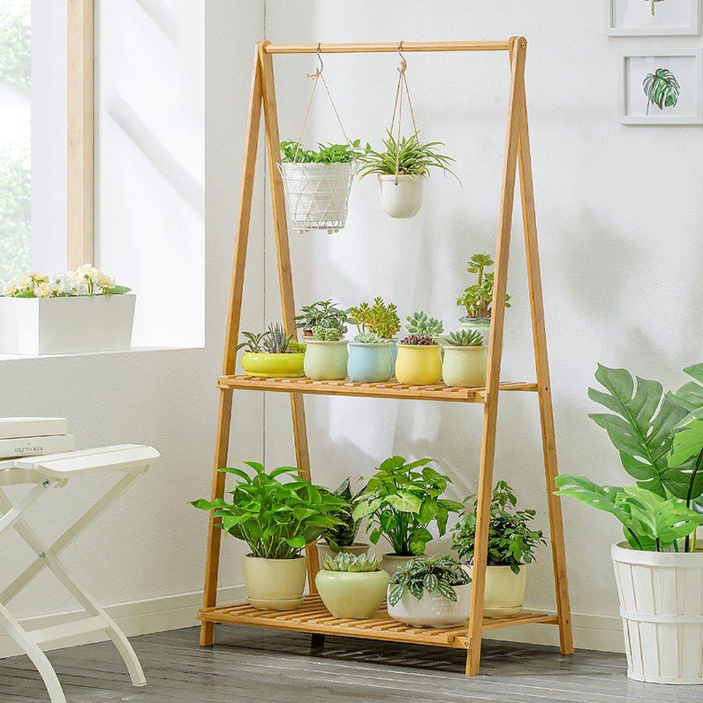 migliore offerta WXL Flower Rack Indoor Multi-layer Pieghevole Simple Simple Simple Balcony Indoor Flowerpot Stand per piante (dimensioni   L70CMW43CMH129CM)  Felice shopping