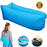 Inflatable Lounger Couch, Portable Air Sofa Sleeping Bed Chair with Fast Inflatable Design for Travelling, Camping, Beach, Park, Backyard ---Lengthened