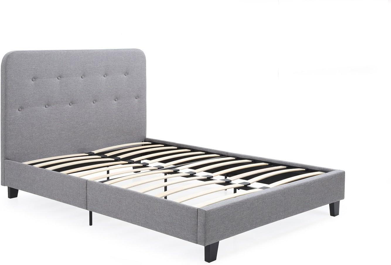 Hodedah Imports Metal Scroll Platform Bed