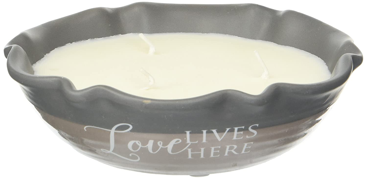 A Mother's Love 86214 Plain Love Lives Here, 3 Wick Ceramic Tranquility Scented Candle Pavilion Gift Company