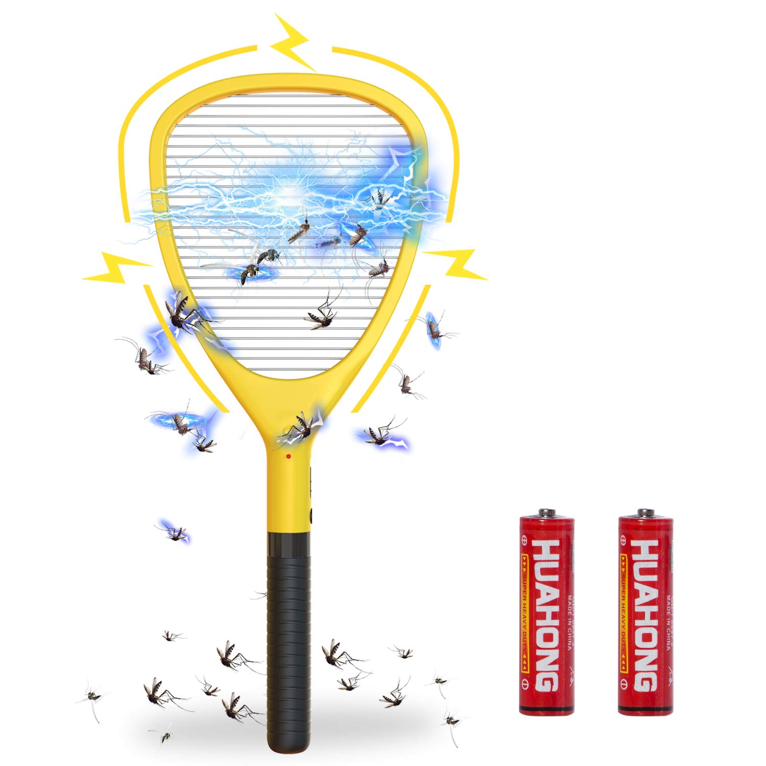 Dwcom Electric Fly Swatter, High Voltage Handheld Bug Zapper Mosquito Killer, Fruit Fly, Insect Trap Racket, 19.68¡± x 8.26¡±(2 AA Batteries Included) by Dwcom