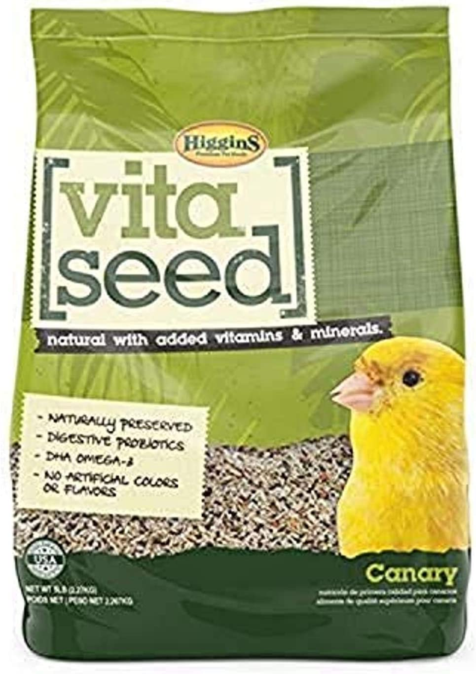 Higgins 466163 Vita Seed Natural Canary 5 Lb (1 Pack), One Size