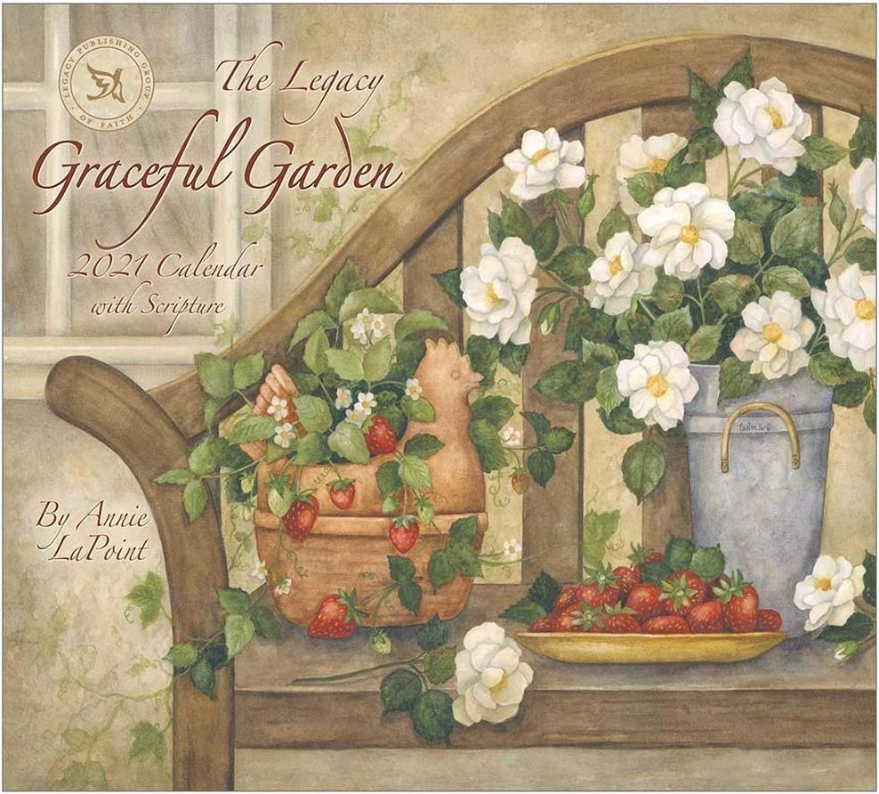 "Legacy Calendar-2021-Graceful Garden w/2 Greeting Cards (13.66"" X 12"") (Sep)"