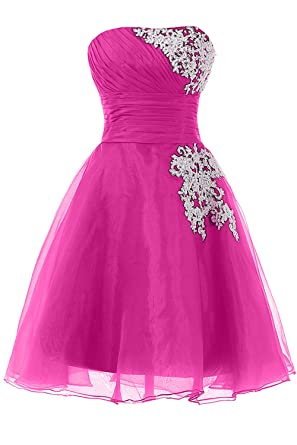 7b689017d3f Amazon.com  Sunvary Organza Short Homecoming Cocktail Dresses Bridesmaid  Gown Size 26W- Peach  Clothing