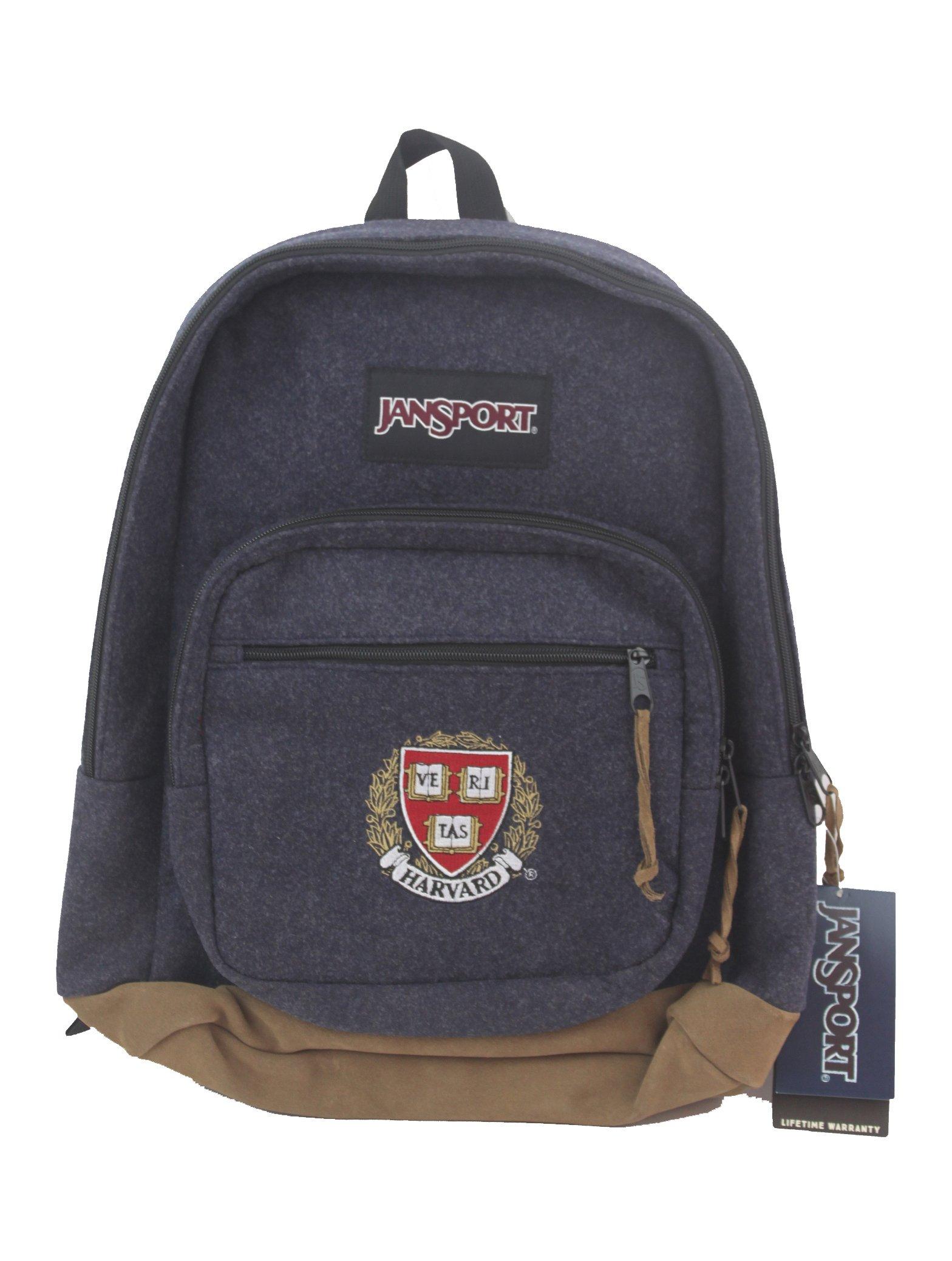 Jansport Right Pack D.E. Digital Edition Laptop Tablet''Harvard'' Collegiate Backpack (Navy Blue Felt)