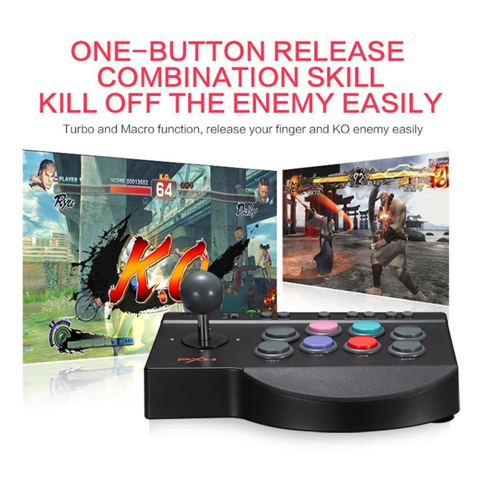 PXN 0082 Arcade - Mando de Control para Videojuegos (Compatible con PC PS3): Amazon.es: Electrónica